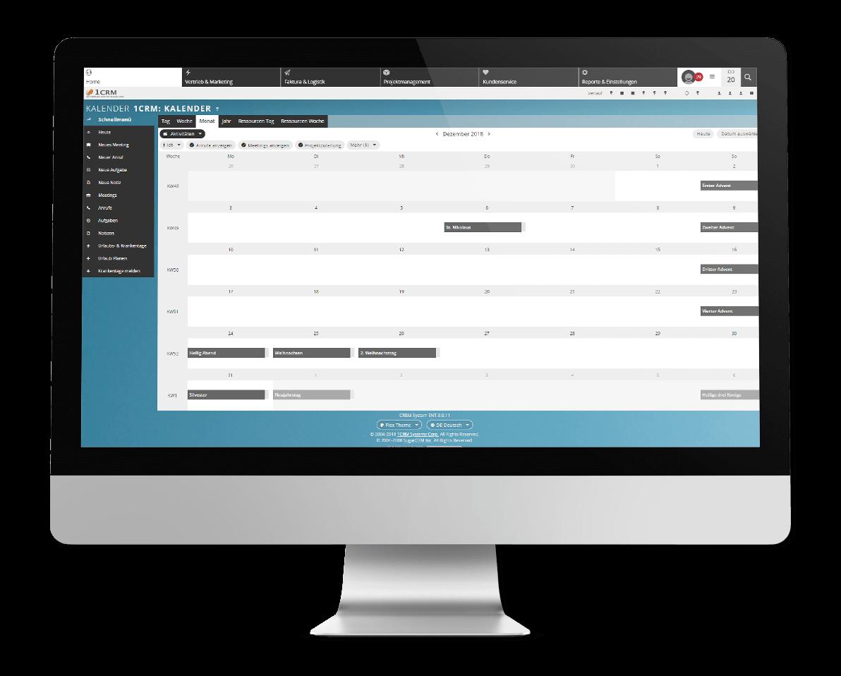Kundenmanagement Kalender