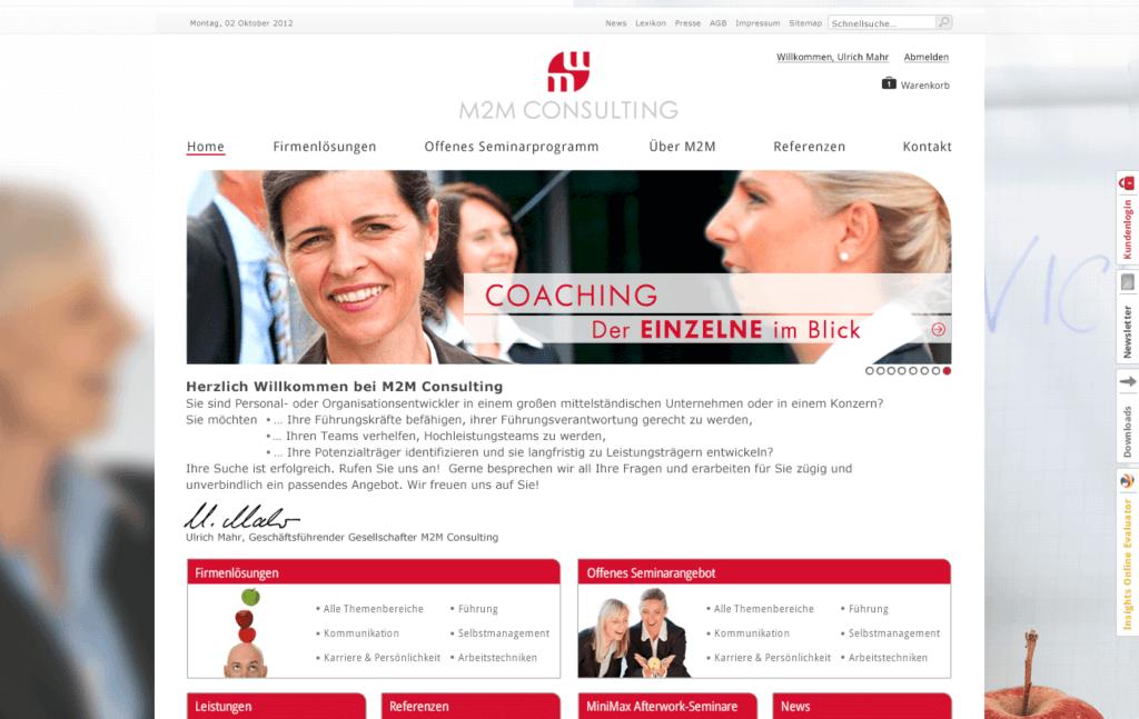 Kundenmanagement Startseite