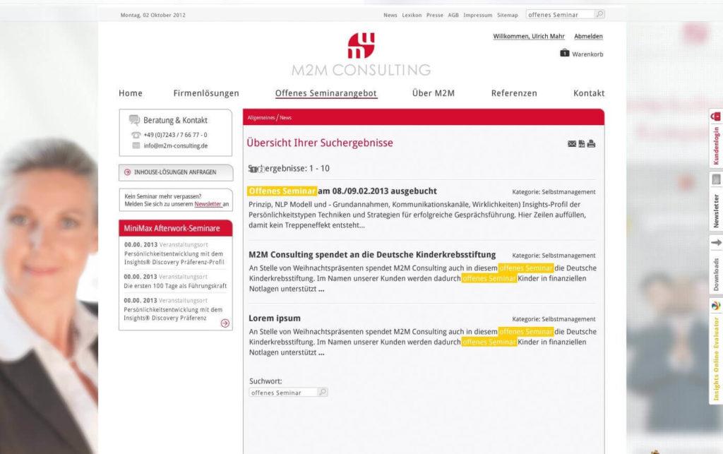 Kundenmanagement Suche