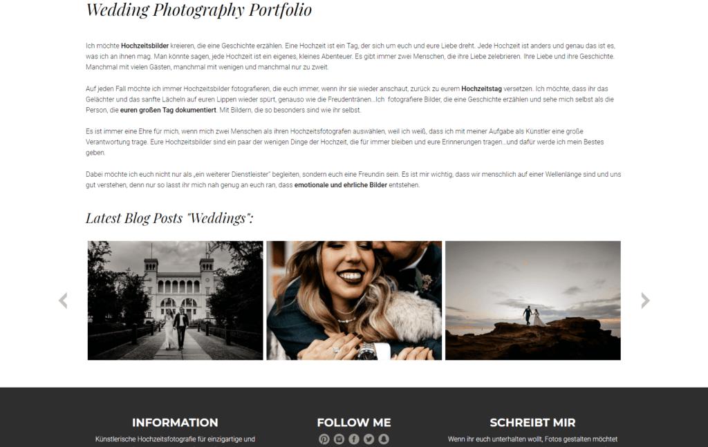 Unternehmenswebsite Portfolio