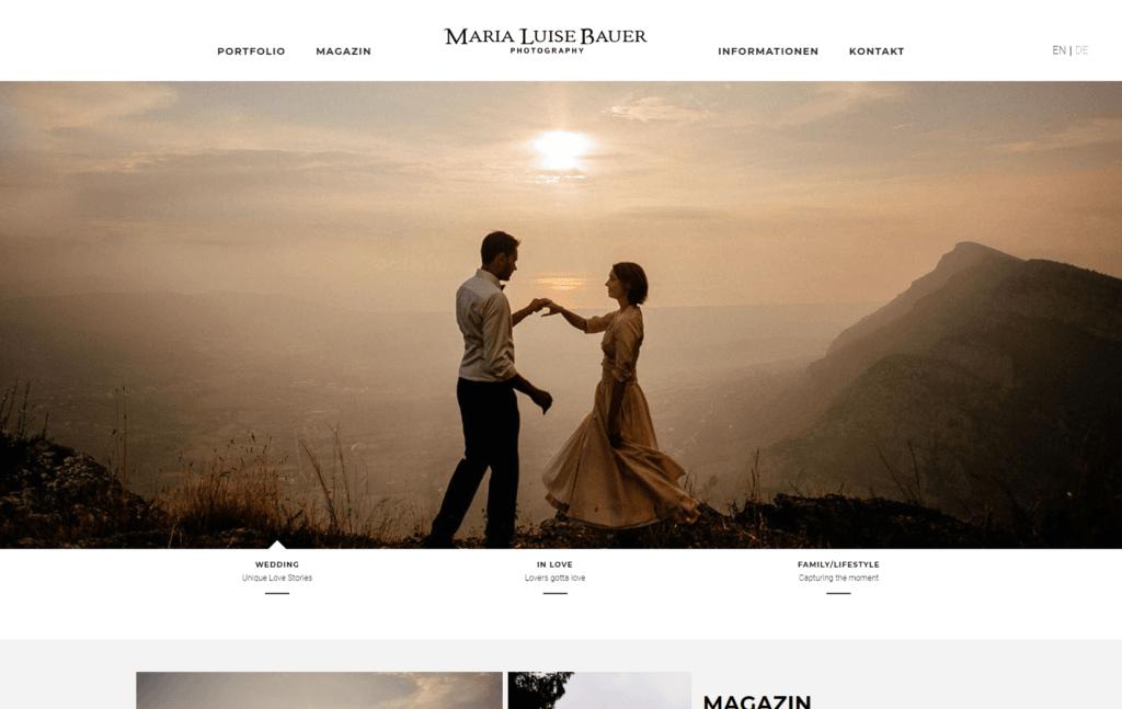 Unternehmenswebsite Startseite