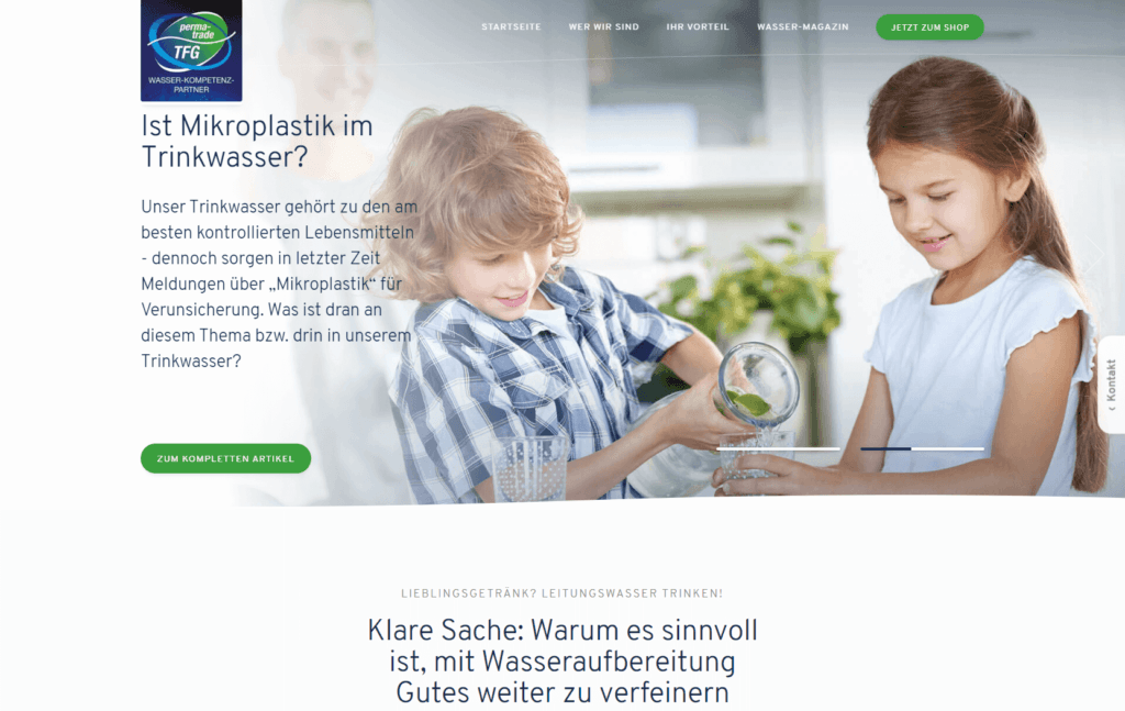 Webshop Startseite